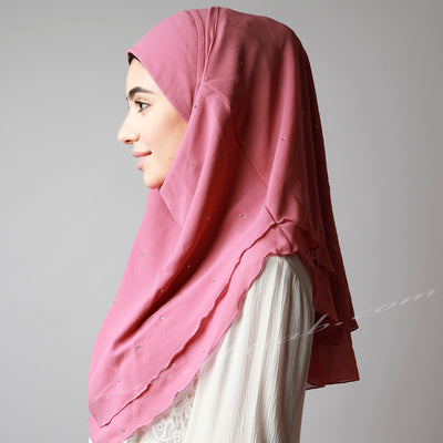 Dark Dusty pink chiffon crystallised instant Hijab, Hijab online  Australia,Hijab style, Hijab fashion, How to wear Hijab? Haute,Hijab Women,  Halal Hijab House, Hijab