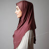 Dark dusty pink leafy Hijab online ,Hijab style, Hijab fashion, How to wear Hijab? Haute,Hijab Women,  Halal Hijab House,Buy Hijab online