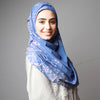 Hijab Australia,Hijab Women, Hijab House,Blue print bright gorgeous Hijab, Hijab style, Hijab fashion, How to wear Hijab? Haute