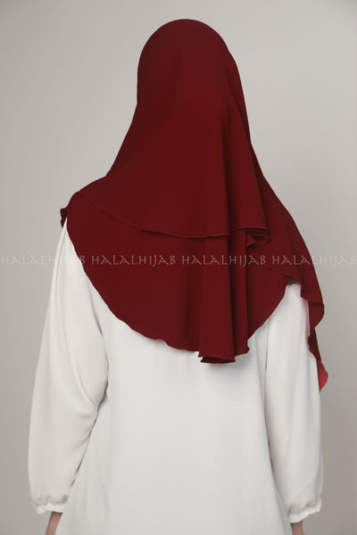 Maroon Chiffon Georgette Instant Pin-Free Multi Style Hijab