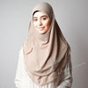 Hijab online,Dusty beige chiffon,Hijab Australia, Hijab Women, Hijab House, Hijab style, Hijab fashion, How to wear Hijab,