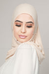 Light Cream Beige Instant Chiffon Hijab