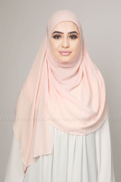 Light Coral Peach Instant Stylish Hijab