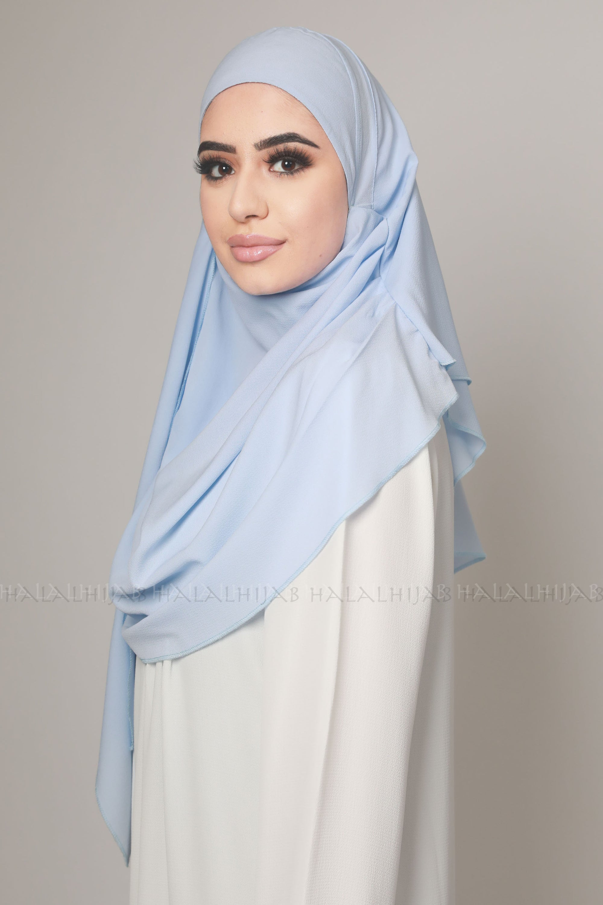 Sky Blue Multi Style Instant Fashion Hijab