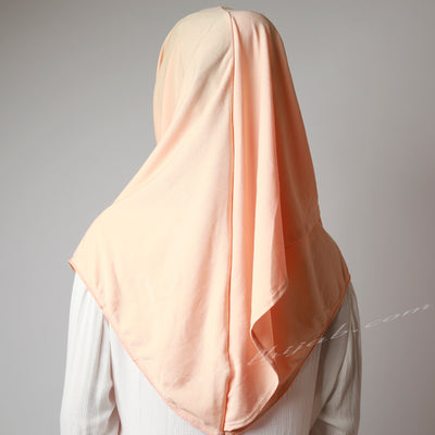 Sweet Light Matte Apricot Stretchy Instant Hijab