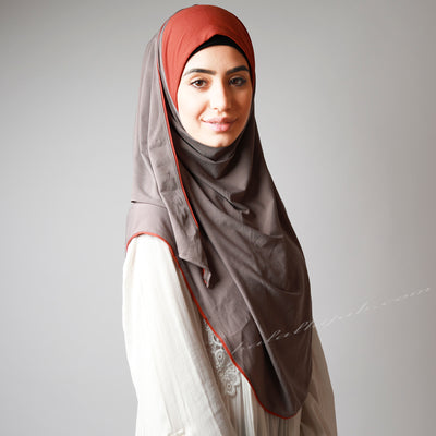 Latte Light Coffee Orange Contrast Awning Instant Hijab
