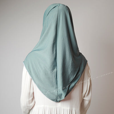 Dusty Ocean Pale Blue Stretchy Instant Hijab