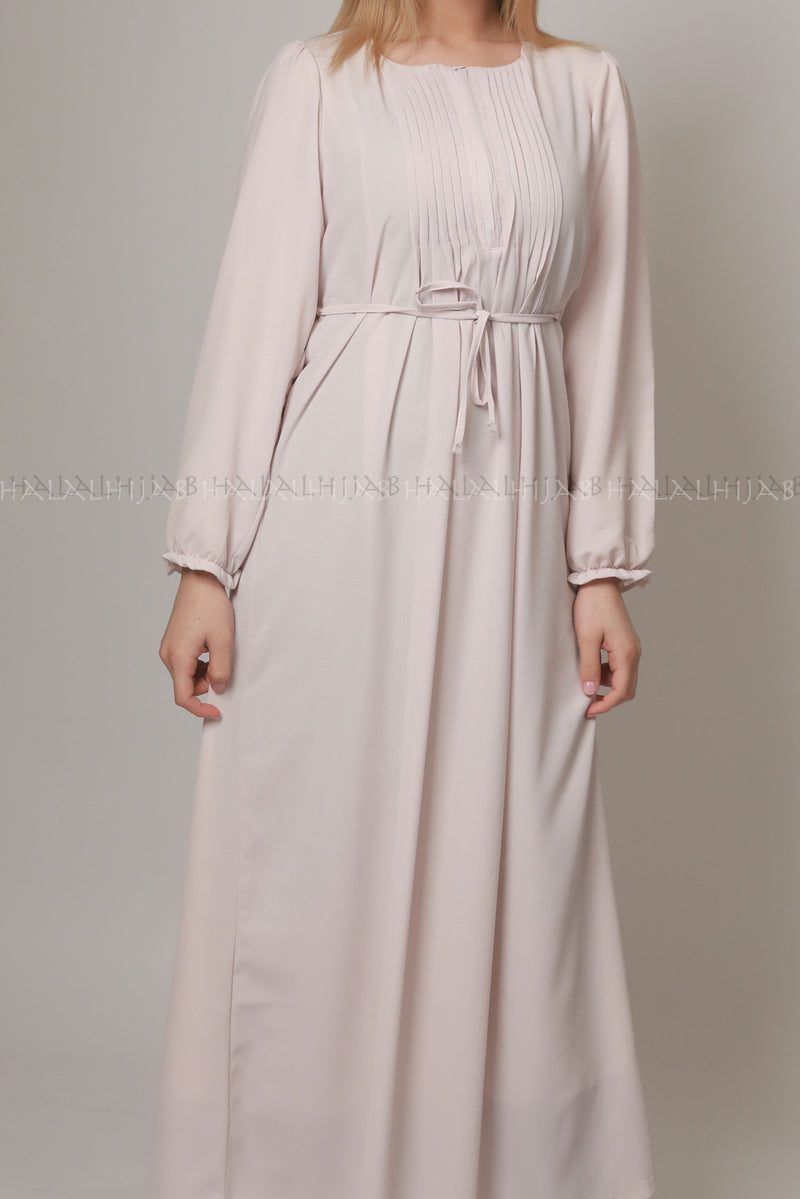Pearl Opal Colour Light Neutral Dress