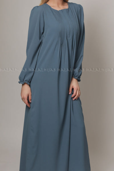 Denim Blue Modern Modest Dress