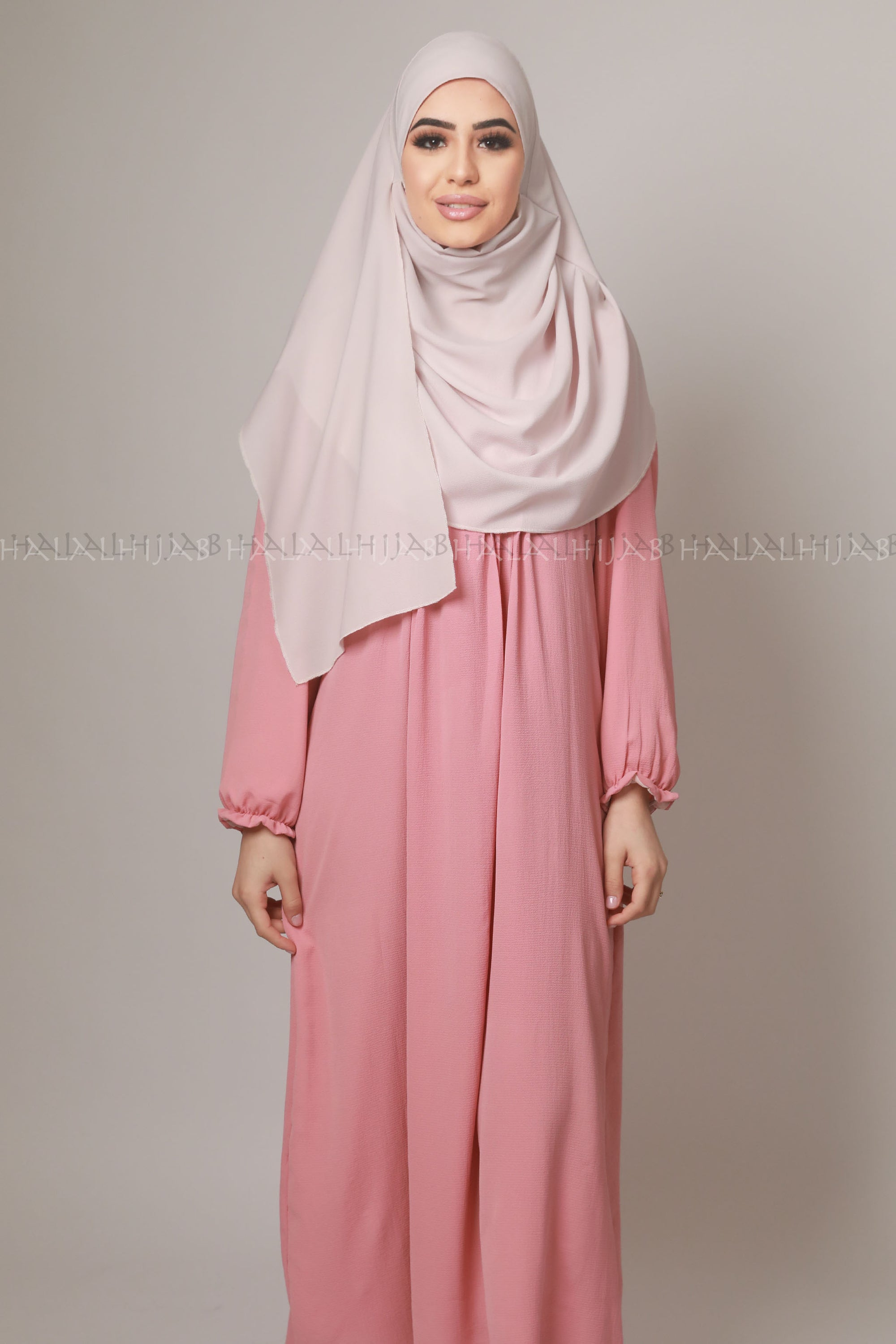 Dusty Pink Comfortable Modest Summer Dress