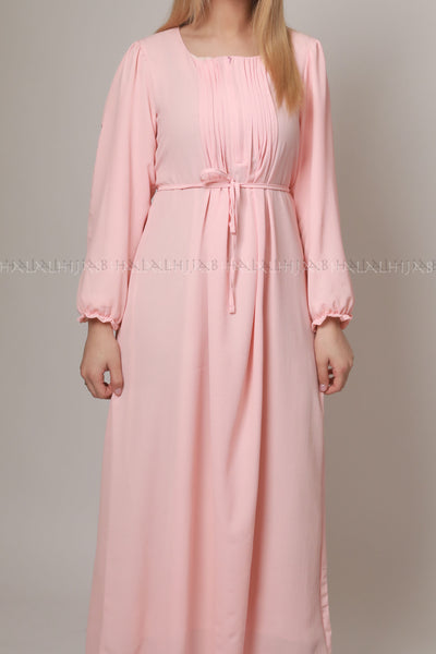 Blush Baby Pink Long Sleeve Dress