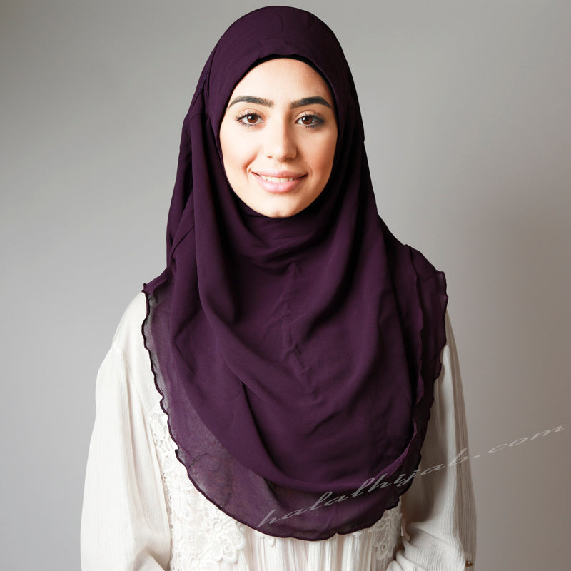 Purple Hijab online ,Hijab style, Hijab fashion, How to wear HijabHaute,Hijab Women,  Halal Hijab House,Buy Hijab online