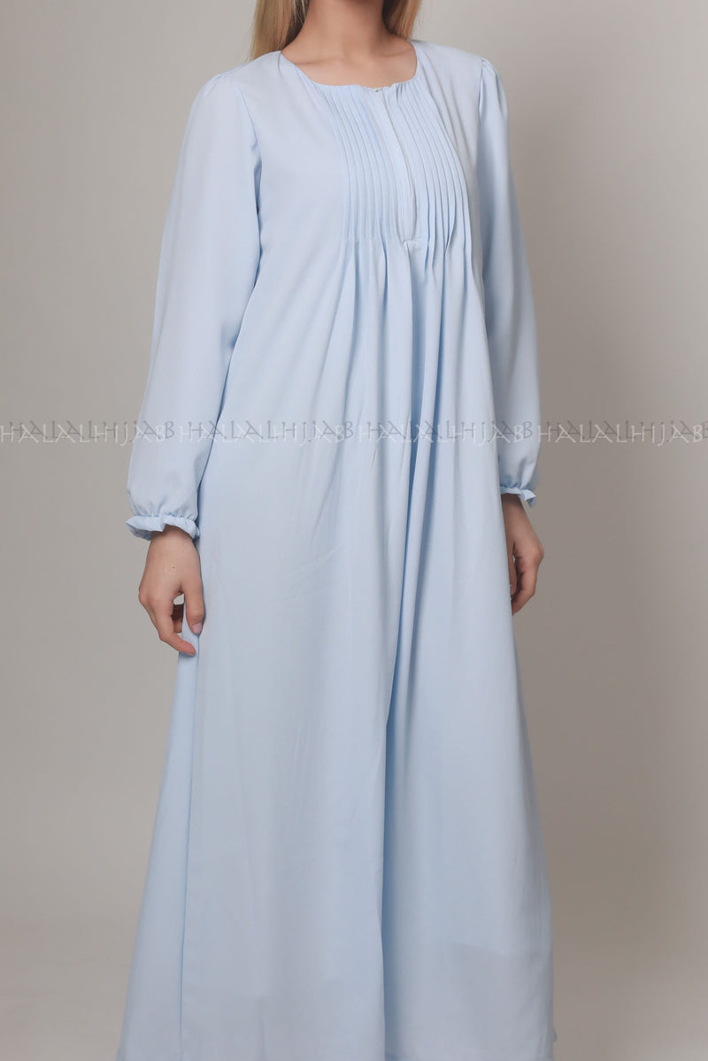 Sky Blue Baby Shower Maternity Dress