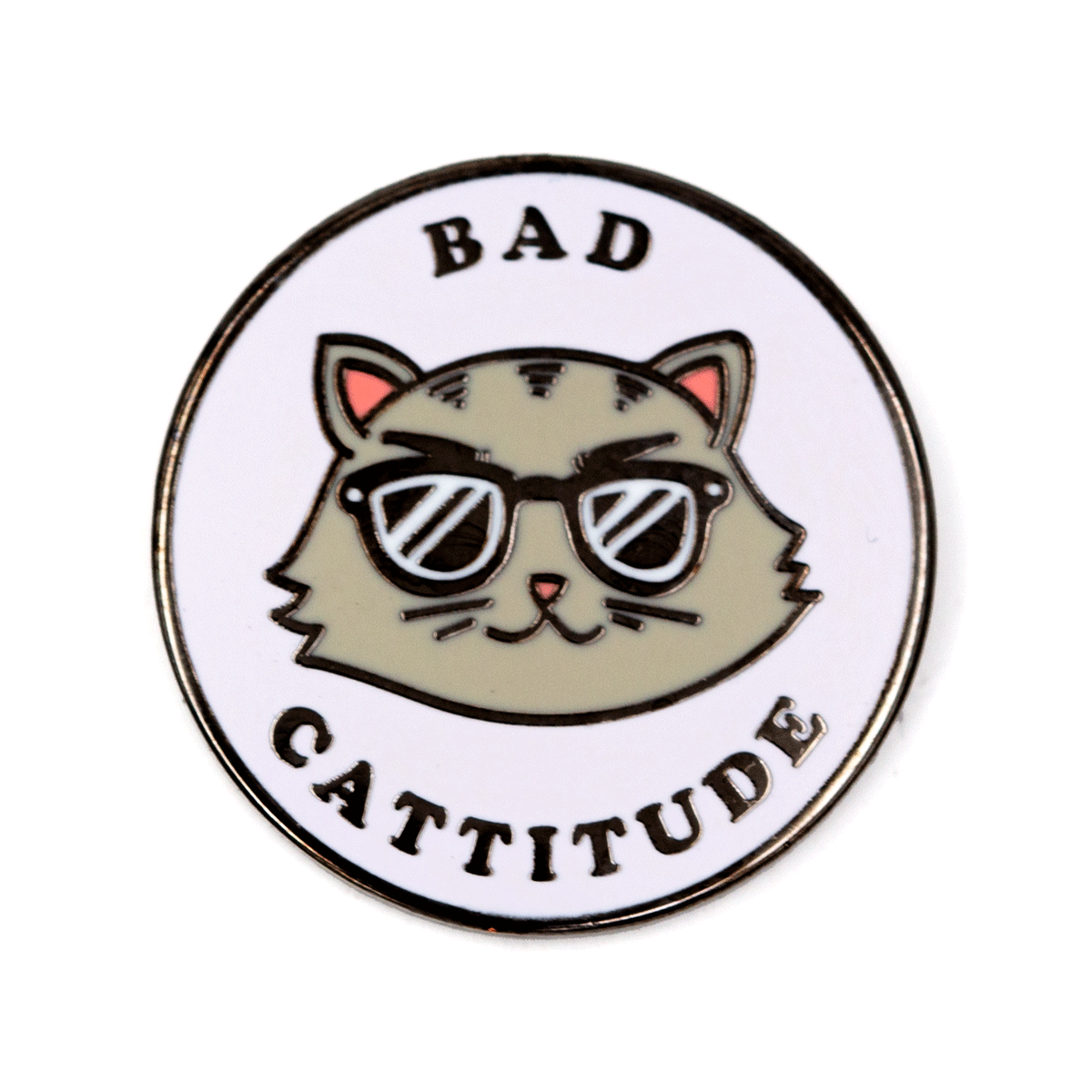 Bad Cattitude Pin