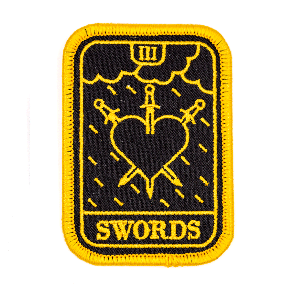 Three Of Swords Tarot Patch