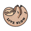 Live Slow Sloth Patch