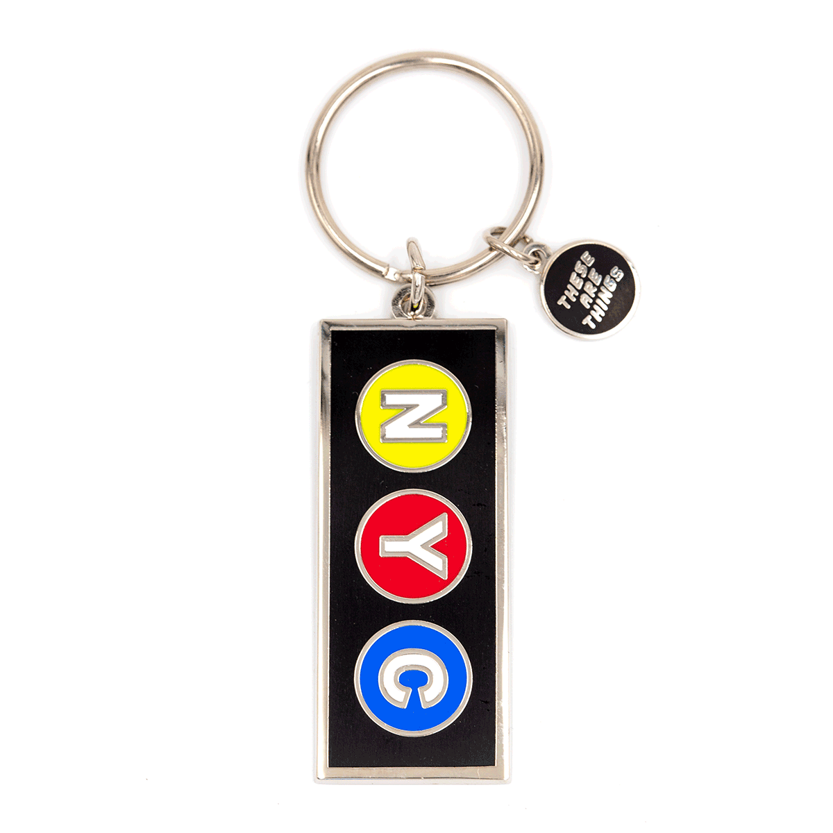NYC Subway Enamel Keychain