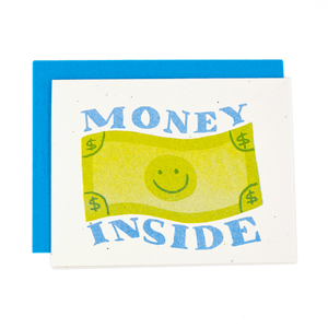 Money Inside Risograph Card