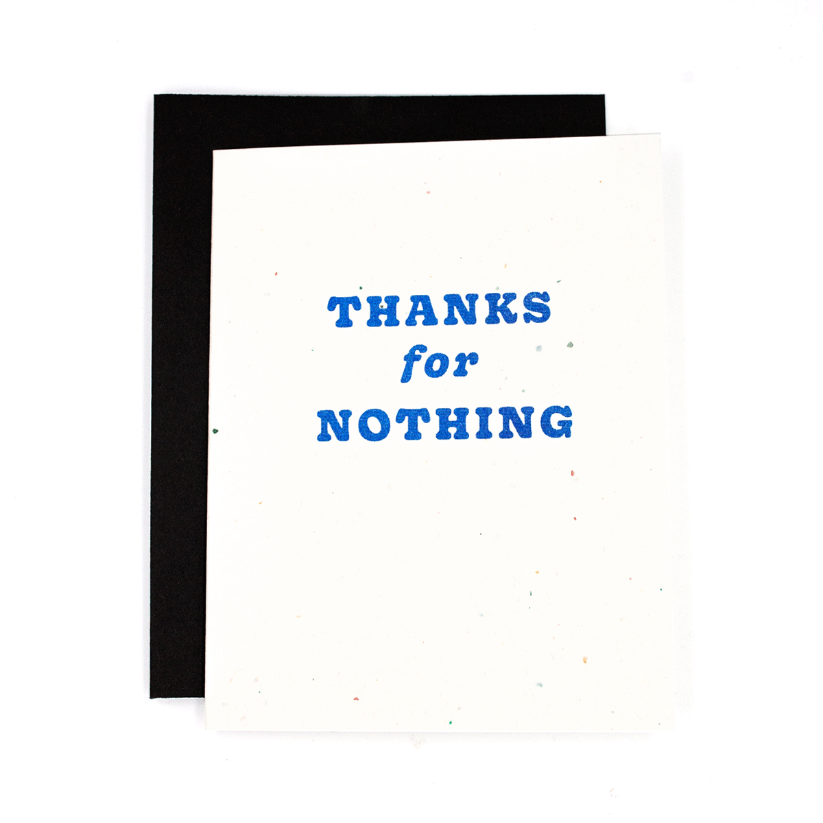 Thanks For Nothing Risograph Card