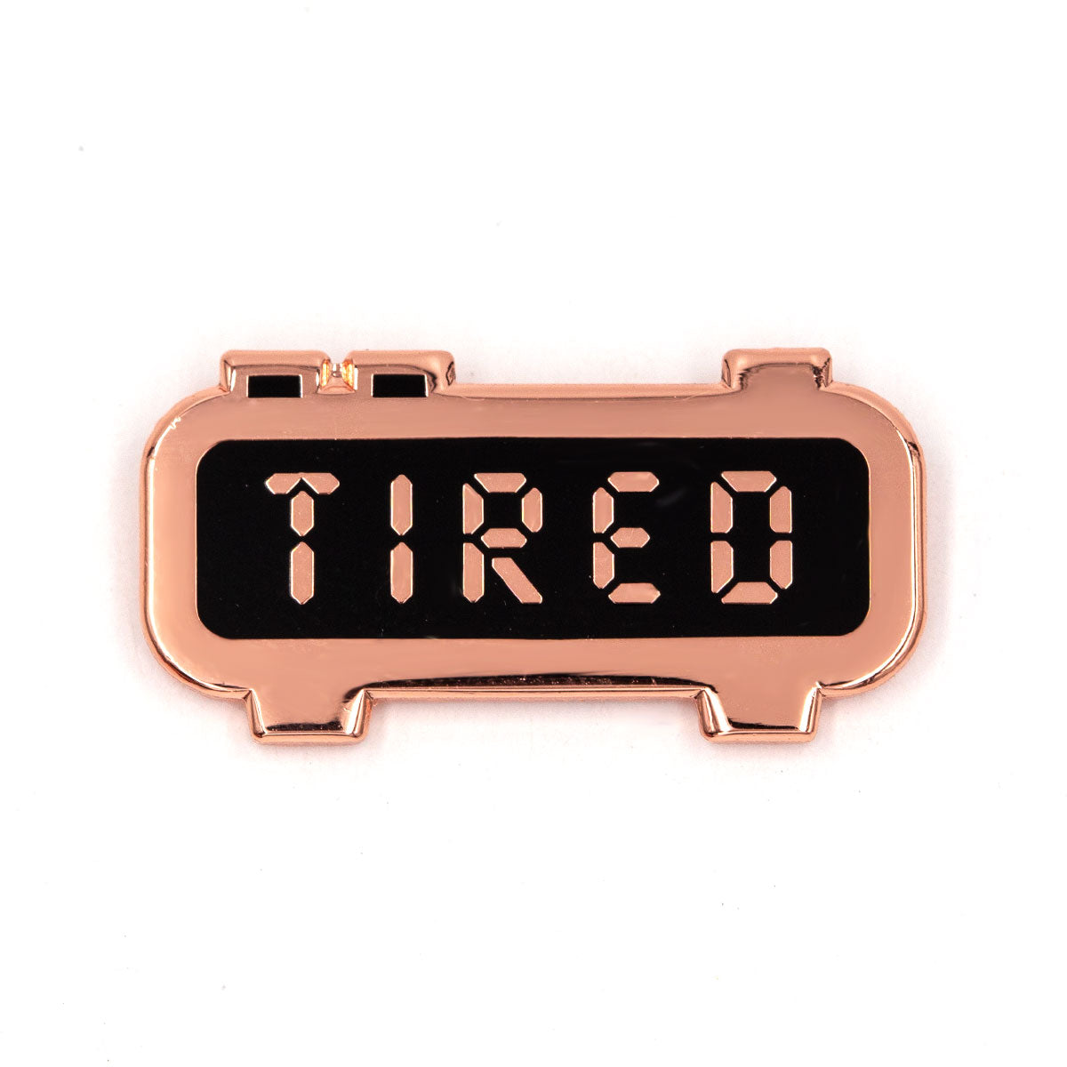 Tired Alarm Clock Pin