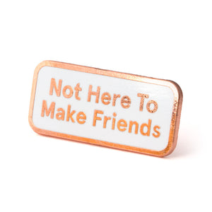 Not Here To Make Friends Pin