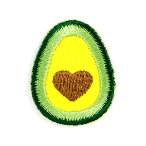 Avocado Heart Sticker Patch