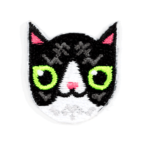 Black and White Cat Sticker Patch