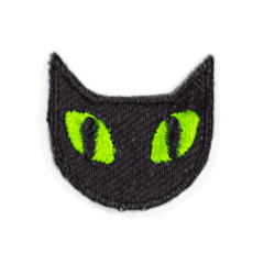 Black Cat Sticker Patch