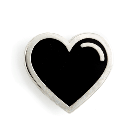 Black Heart Pin