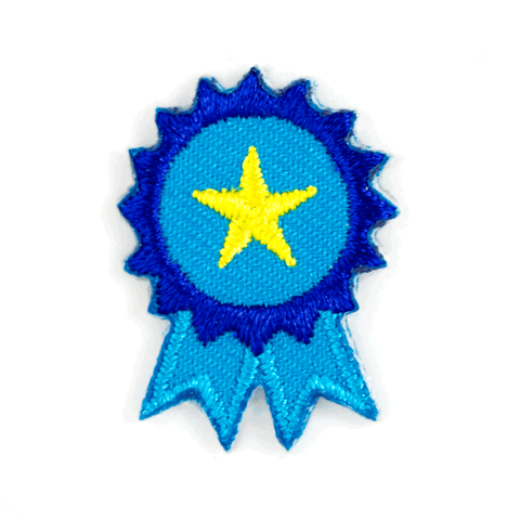 Blue Ribbon Sticker Patch
