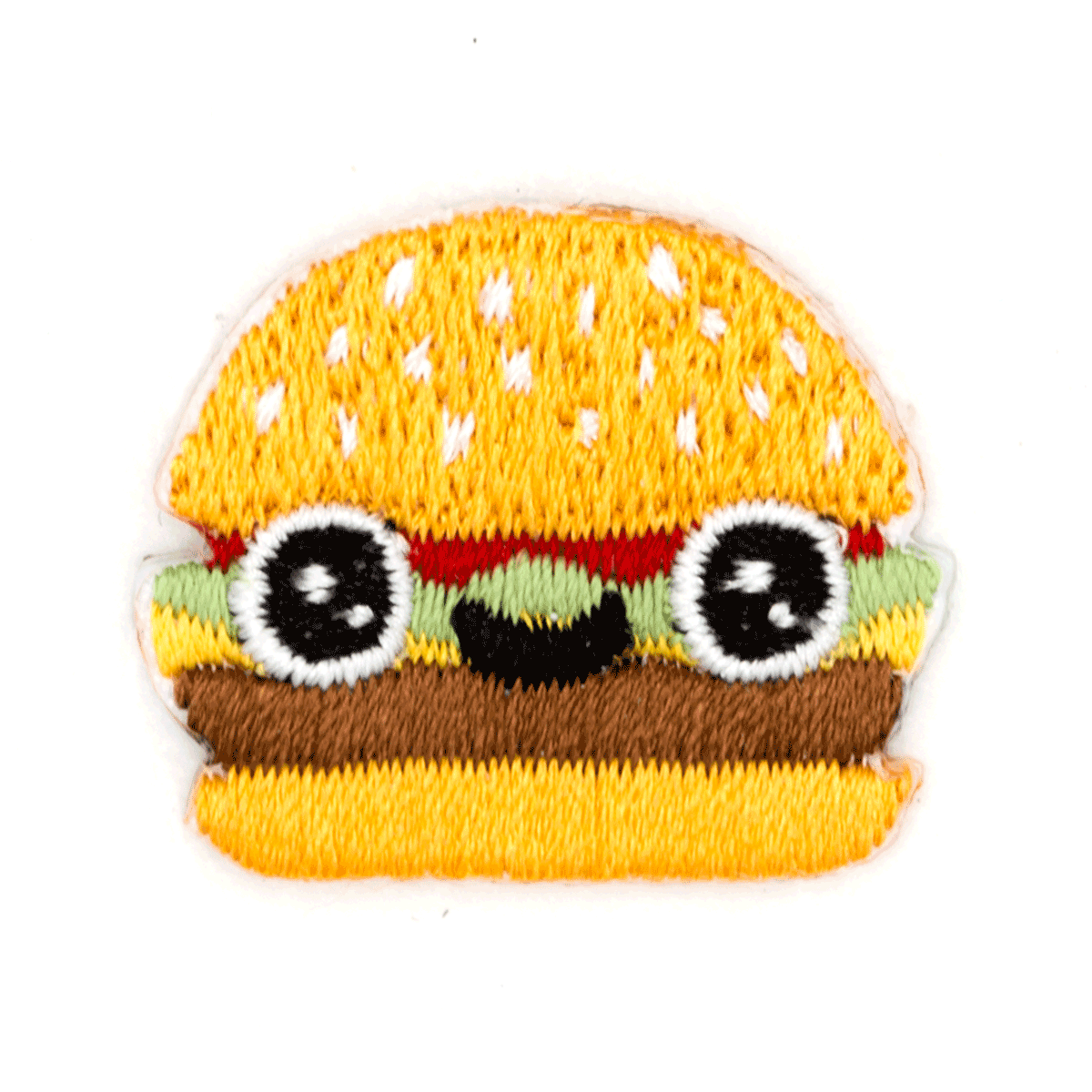 Burger Face Sticker Patch