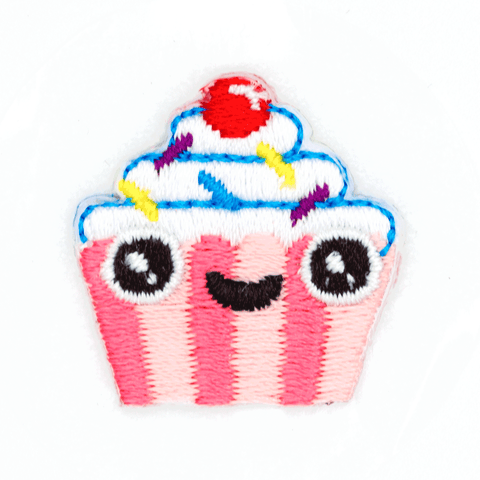 Cupcake Face Sticker Patch