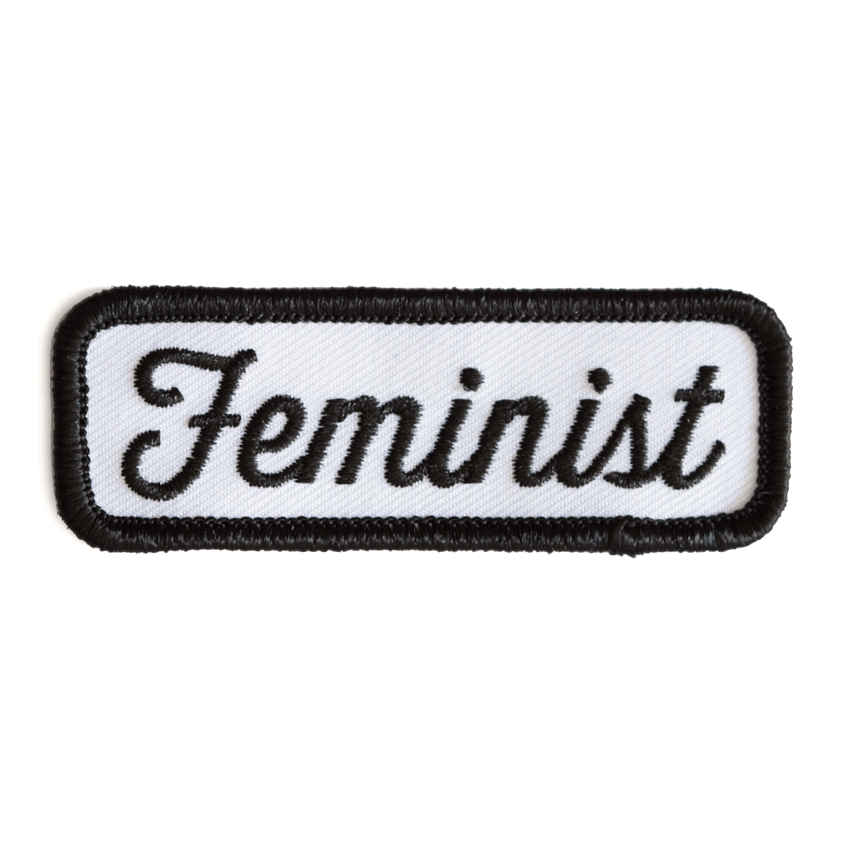 Feminist Patch (Black on White)
