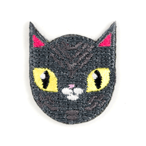 Gray Cat Sticker Patch