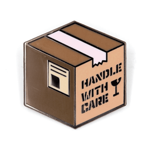 Handle With Care Pin