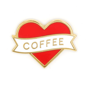 Heart Coffee Pin