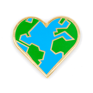 Heart Earth Pin