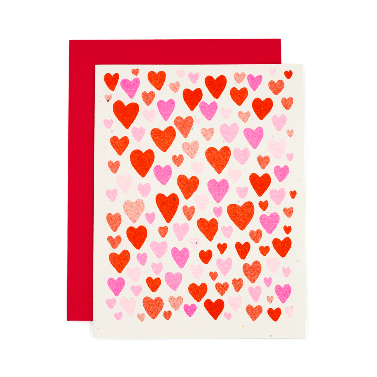 Hearts Risograph Card
