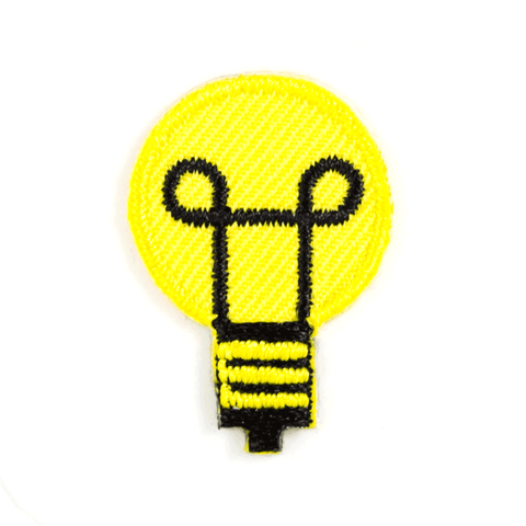 Light Bulb Sticker Patch