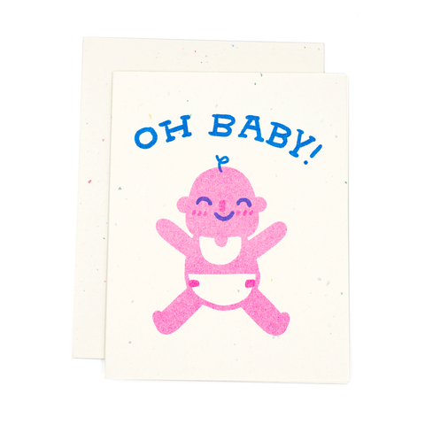 Oh Baby Risograph Card