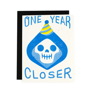 One Year Closer Risograph Card