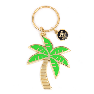 Palm Tree Enamel Keychain
