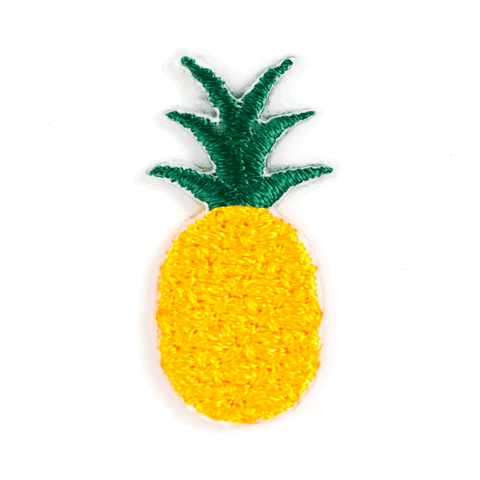 pineapple sticker patch these are things. Black Bedroom Furniture Sets. Home Design Ideas