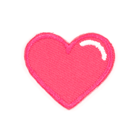 Pink Heart Sticker Patch