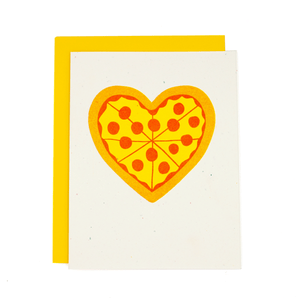 Pizza My Heart Risograph Card