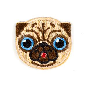 Pug Dog Sticker Patch