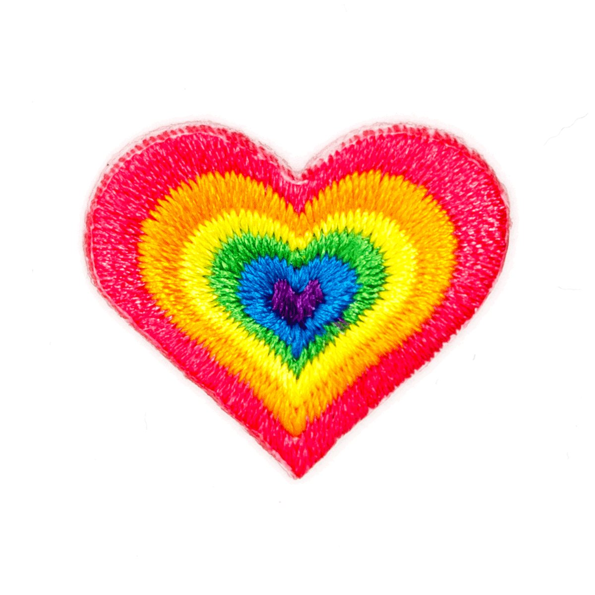 Rainbow Heart Sticker Patch