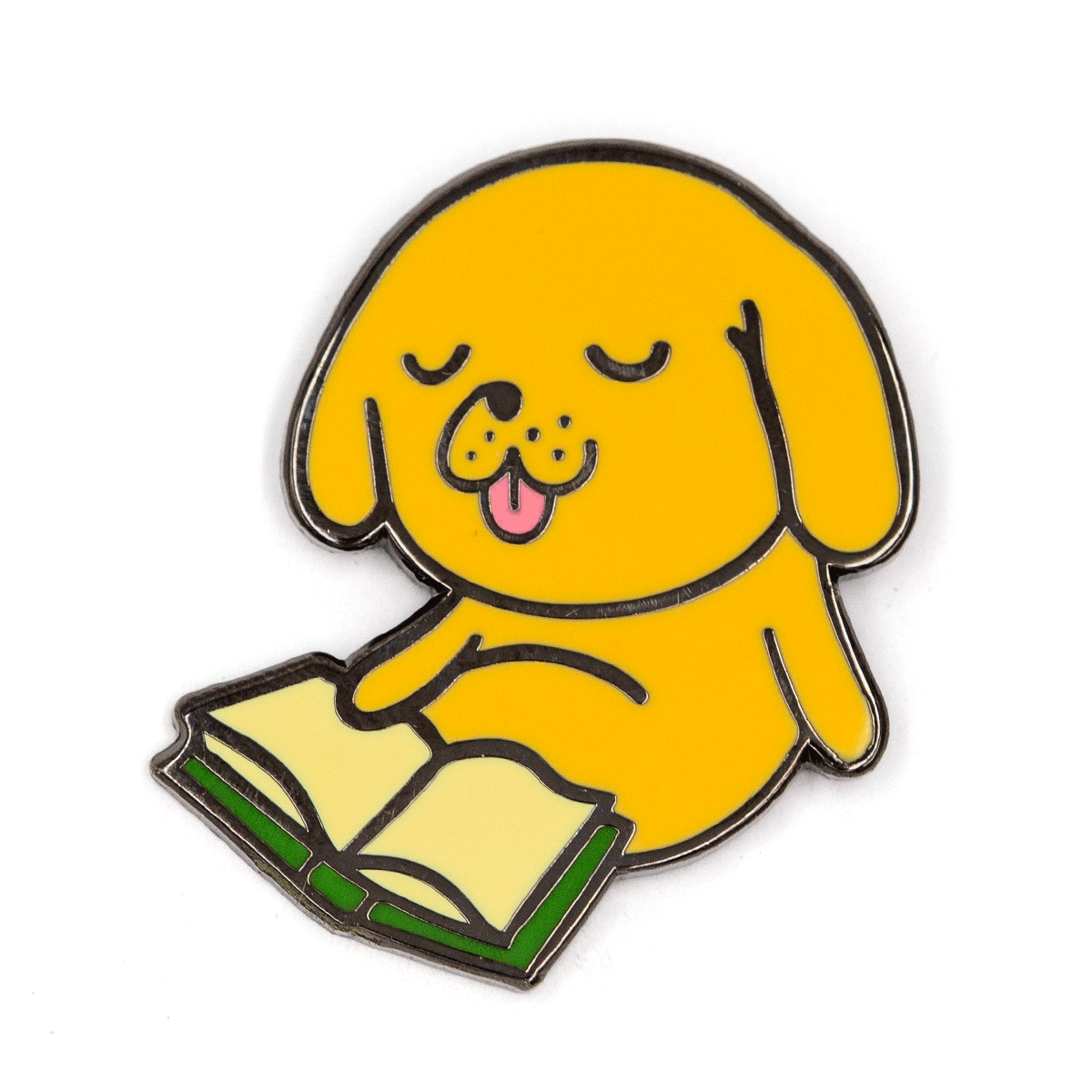 Reading Dog Pin