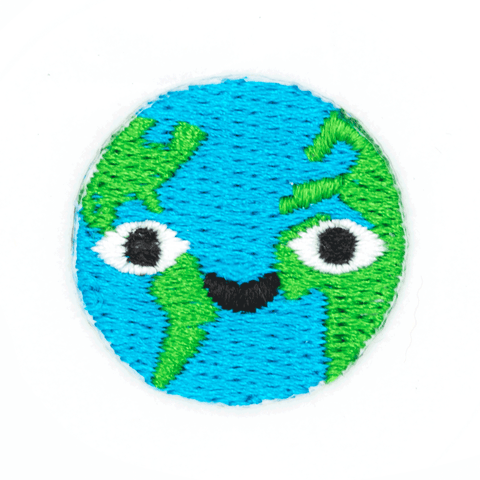 Happy Earth Sticker Patch