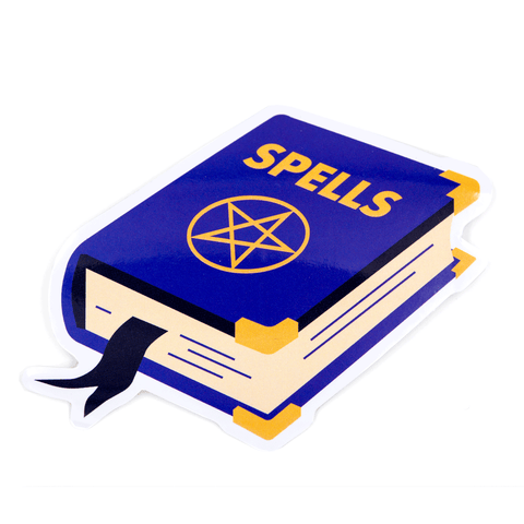 Spell Book Vinyl Sticker